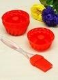 Mizzy Home Silikon Yumurta Fırçası+6 Ad.Muffin Kalıbı Renkli